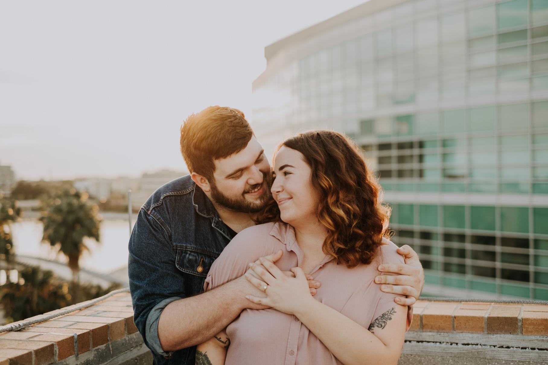 tampa wedding photography | jessie + jarod | tampa wedding photographer | downtown tampa engagement session