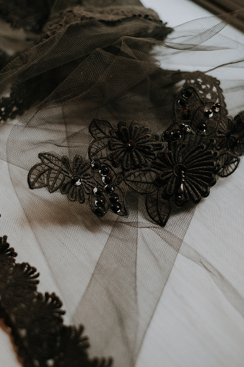 black veil | nontraditional bride | philadelphia wedding | moody film wedding photography | travel wedding photographer