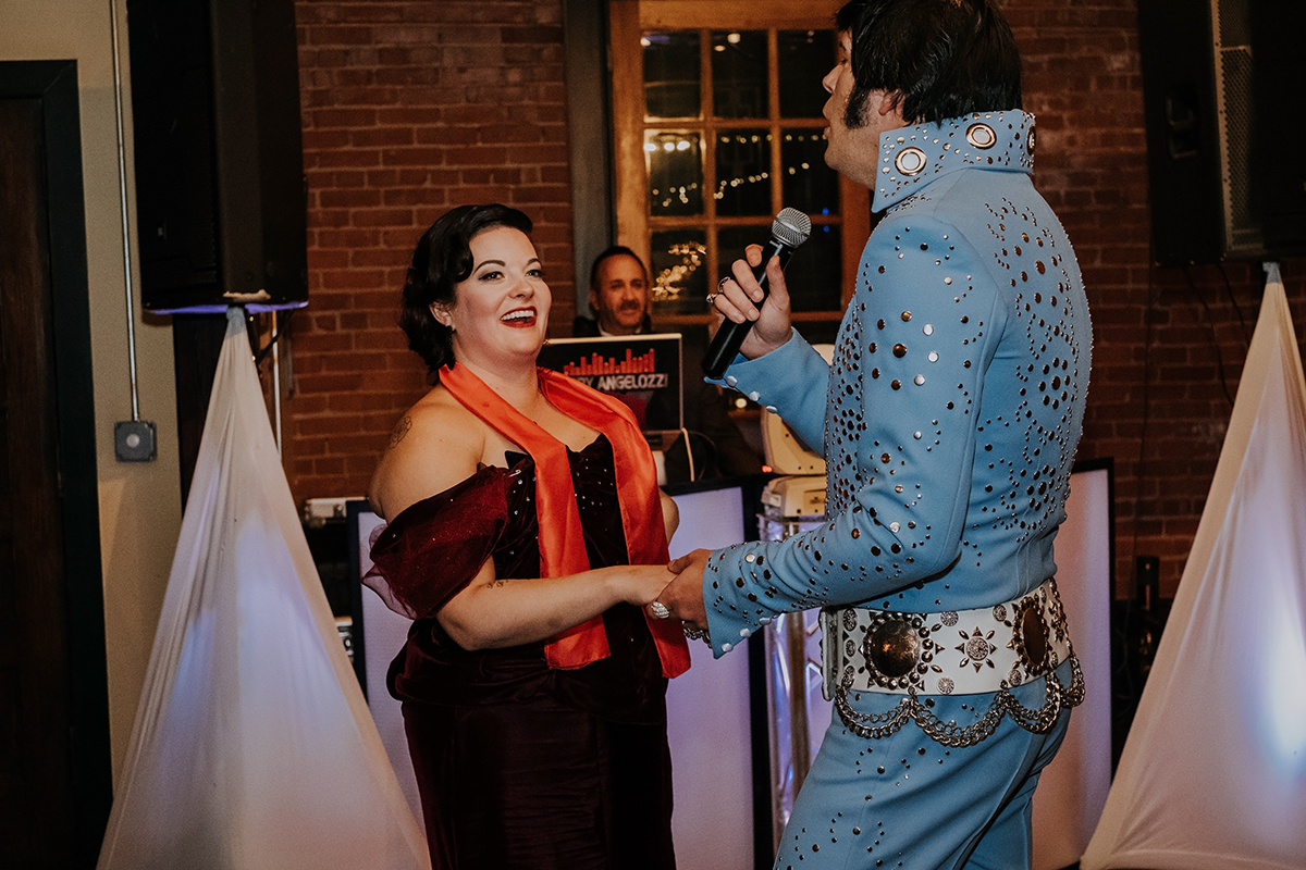 Elvis impersonator | philadelphia wedding | moody film wedding photography | travel wedding photographer