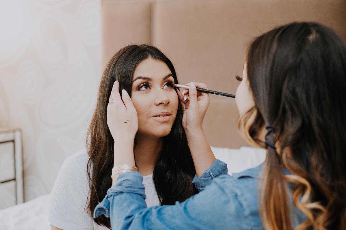 sarasota bride makeup | getting ready | Florida wedding