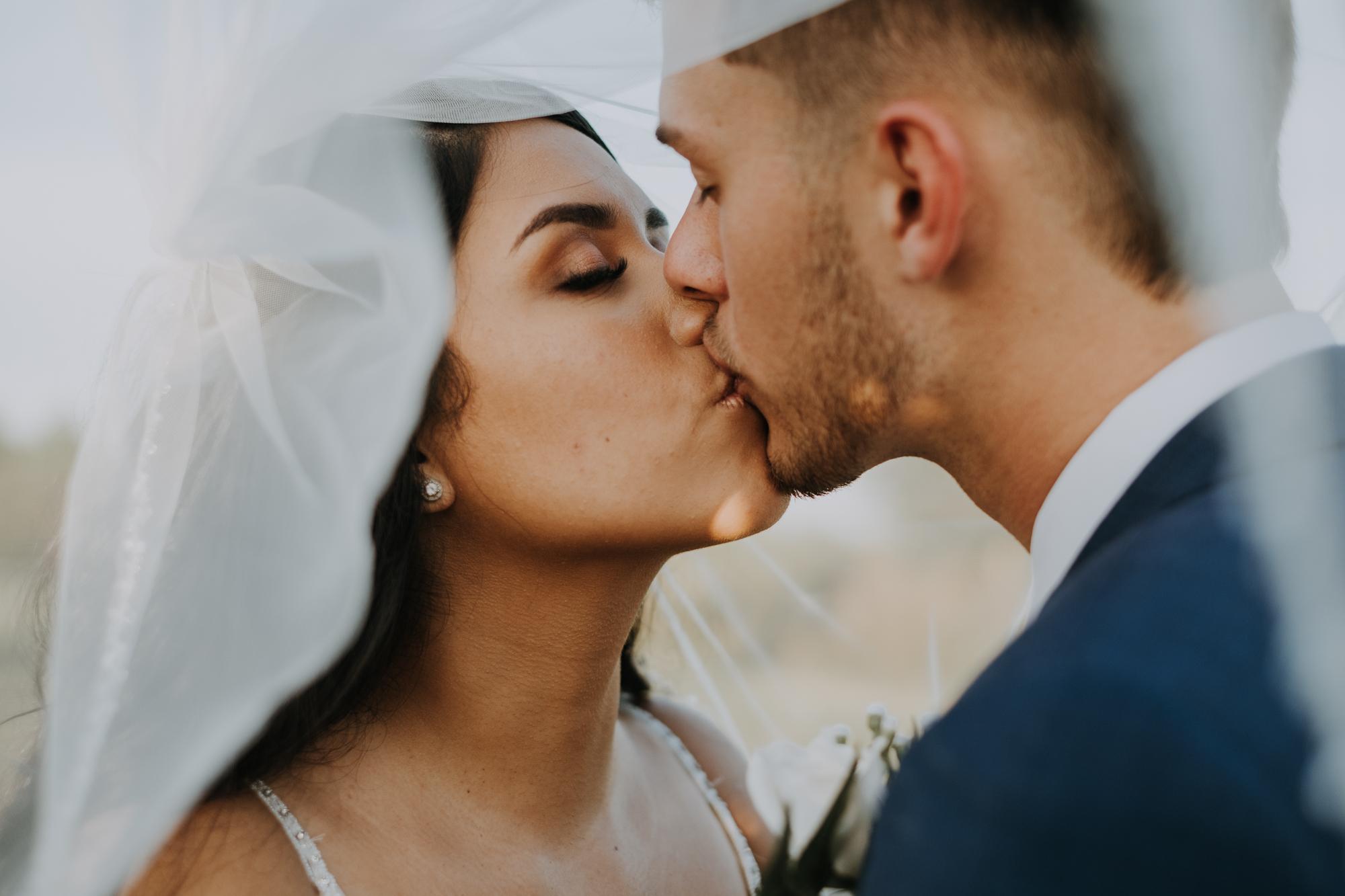 under the veil portraits | romantic bridal portraits | intimate wedding photos | romantic sarasota wedding | outdoor Florida wedding | boho wedding portraits