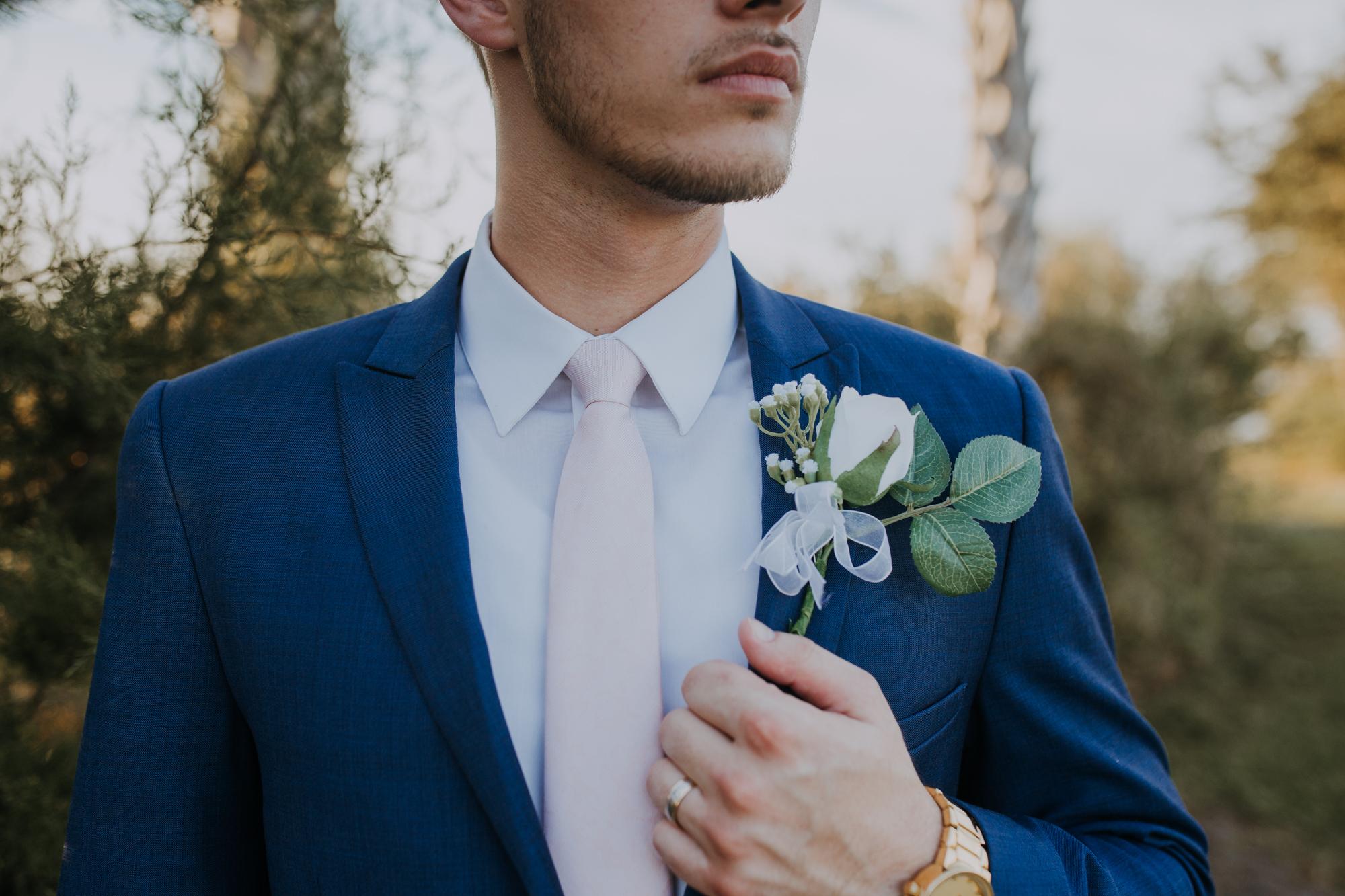 boho groom | romantic groom portraits | romantic bridal portraits | intimate wedding photos | romantic sarasota wedding | outdoor Florida wedding | boho wedding portraits