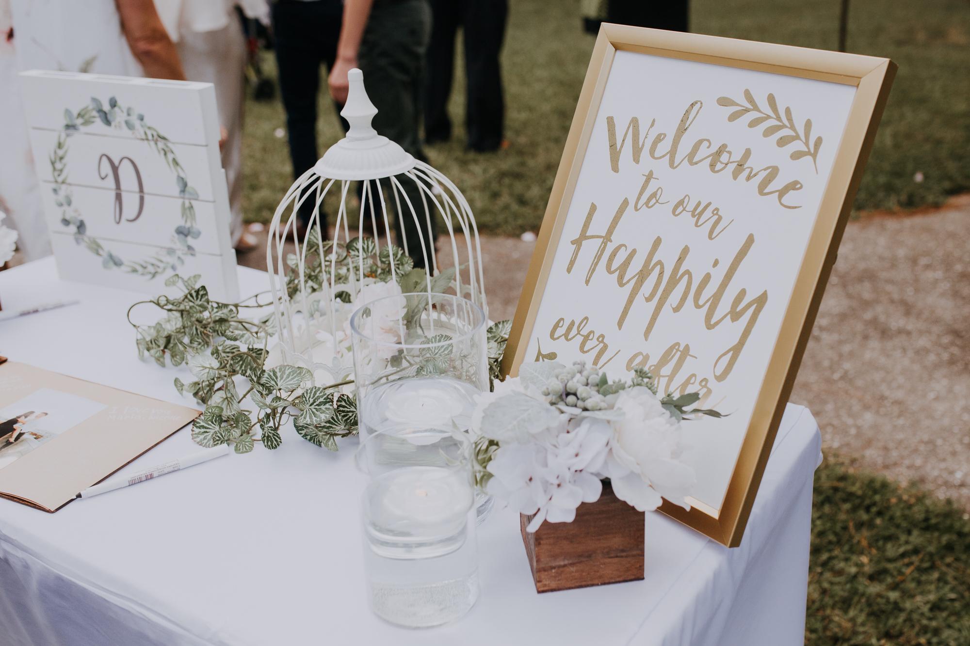 boho guest book | boho reception | sarasota wedding photographer