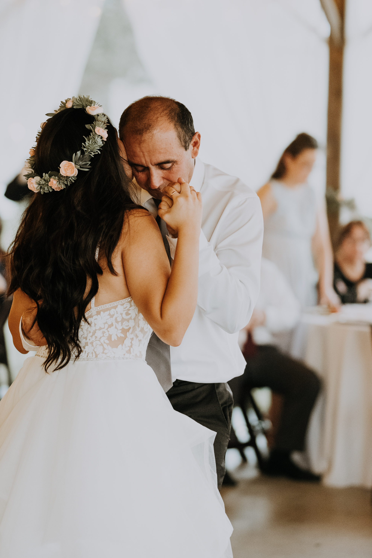 daddy daughter first dance | father daughter first dance | father daughter dance | boho wedding reception | romantic sarasota wedding